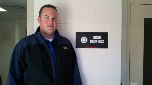 Outstanding member Chief Smith with new Rx Drop box